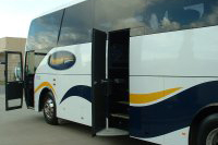 Flagstaff Coaches With 2 Opened Doors